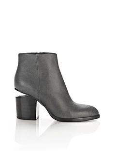 ALEXANDER WANG Gabi Distressed Bootie With Rhodium. #alexanderwang #shoes #