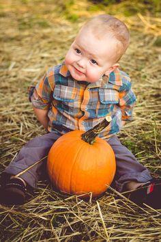Pumpkin patch, fall photos little boy Gaudy girl photography