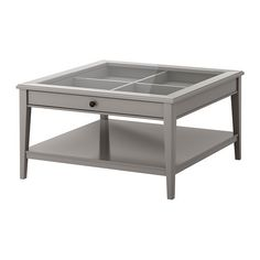 Instead of setting your display items ON the coffee table, set them inside the coffee table. This way the surface stays clear. This LIATORP table from @IKEAUSA will do the trick and even features an additional tier of shelving.