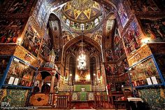 Holy Savior Cathedral also known as Vank Cathedral and The Church of the Saintly Sisters, is the most visited cathedral in Isfahan, Iran. Description from irangazette.com. I searched for this on bing.com/images
