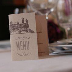 faire-part billet de train le menu