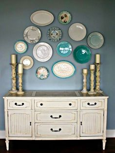 Decoraci n on pinterest plato shabby chic and mesas - Platos decorativos pared ...