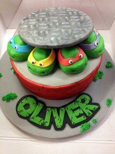 How to make a Teenage Mutant Ninja Turtles Cake - instructions.