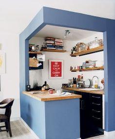 realizzazione stanza-angolo cucina in cartongesso.
