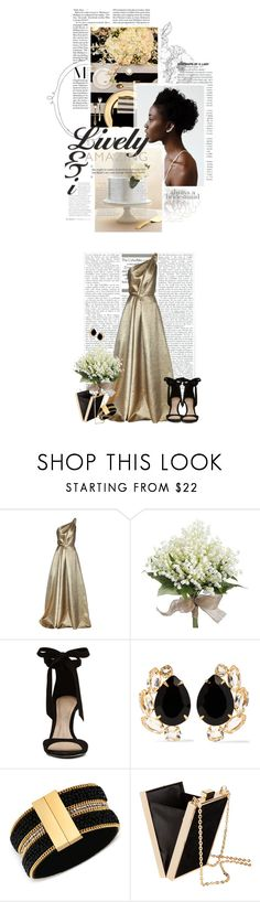 """Always a Bridesmaid: Black & Gold"" by crystal85 ❤ liked on Polyvore featuring Carolina Herrera, ALDO, Bounkit, GUESS, H&M and alwaysabridesmaid"