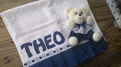 Toalha de Boca personalizadas e com urso removível com velcro medindo 33x50