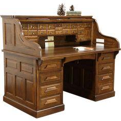Antique Oak Roll Top Desk Desk Home Old Desks