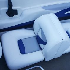 It might not be the weather for it, but we really enjoyed renovating these boat cushions Vehicle Upholstery, Boat Upholstery, Boat Seats, Bristol, Cushions, Weather, Photo And Video, Vehicles, Ideas