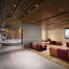 Yotel New York by Softroom and Rockwell Group. Lounge.