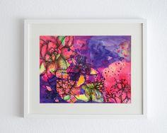 Cuadros por la artista Lucia Auld #art #color #cuadro #painting #flowers #violet #pink #orange #pen #drawing #shop #store #barbastudio #barba #bigcartel #barcelona #arte #creative #photography #eshop