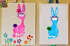 easter crafts on canvas kids * ostern basteln auf leinwand kinder easter crafts on canvas kids * For Adults easter crafts; Easter Crafts For Toddlers, Easter Activities, Toddler Crafts, Infant Crafts, Animal Art Projects, Diy Art Projects, Daycare Crafts, Preschool Crafts, Kids Crafts