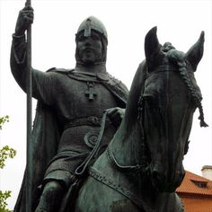 Good King Wenceslas (Saint Vaclav). Horse stautue, Prague, Czech republic. Europe. Legendary early medieval ruler, symbol of the good monarch. http://getasword.com/blog/771-good-king-wenceslas/