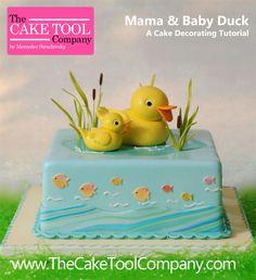 Mama & Baby Duck Cake Tutorial