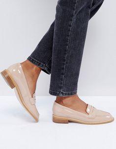 ASOS MUNCH Loafer Flat Shoes - Beige