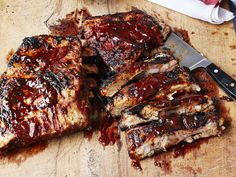 Foolproof Ribs with Barbecue Sauce recipe from Ina Garten via Food Network