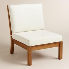 Wood Cayman Armless Sectional Chair - v1