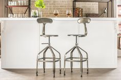$103 for 1 Amazon.com: Baxton Studio Architect's Industrial Bar Stool with Backrest, Gun Metal: Kitchen & Dining