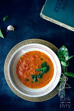 Creamy Tomato Soup with Roasted Peppers
