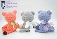 Amigurumi related to each other, we continue to share with each other. In this article amigurumi cat free crochet pattern is waiting for you. Crochet Amigurumi Free Patterns, Crochet Animal Patterns, Stuffed Animal Patterns, Crochet Animals, Free Crochet, Crochet Panda, Crochet Rabbit, Crochet Teddy, Crochet Hook Sizes