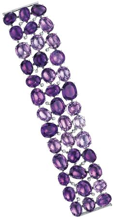 How glorious is this amethyst and diamond bracelet?? Do you love it as much as I do? (Via Phillips.)