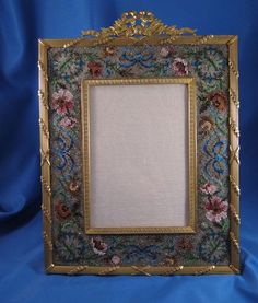French Bronze Ormolu Beaded Picture Frame