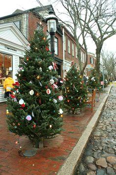 Main Street Trees decked for Nantucket Stroll 2012 <3