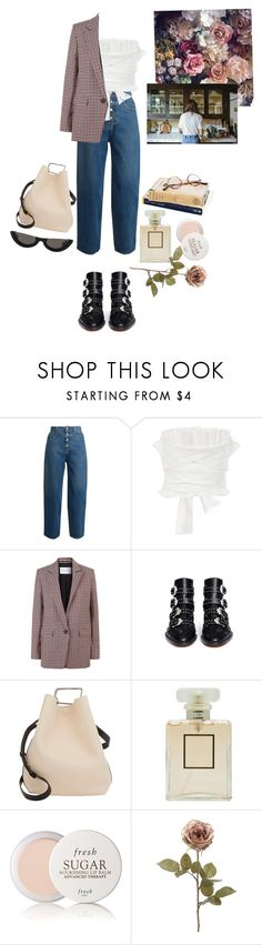 """oslo"" by rsussher ❤ liked on Polyvore featuring MM6 Maison Margiela, Adeam, Sandro, Givenchy, 3.1 Phillip Lim, Chrome Hearts, Chanel and Fresh"