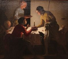 Esau Selling His Birthright - Hendrick ter Brugghen, 1625 #inspiration #ciretrudon #art #painting #candlelight  #interior  #realism