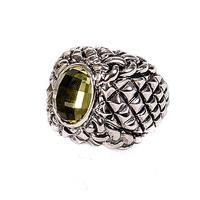 Dian Malouf Dome Point Ring with Braiding