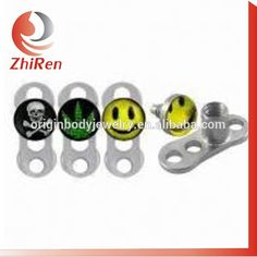 stainless steel skin driver dermal anchor with logo