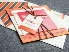 Beach Wedding Invitations Pink and Orange par JulieHananDesign, $5.95