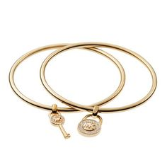 #Michael Kors| Top-notch Lock And Key Charm Golden Bracelets Will Be There Wherever You Are, Hurry Up!