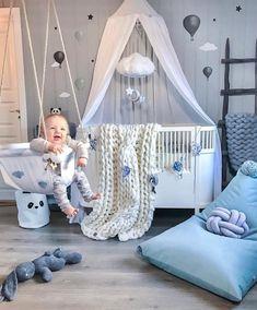 Kleinkindzimmer in grau & blau - Chambre Bebe Fille - Baby Room Furniture, Baby Boy Room Decor, Baby Room Design, Baby Bedroom, Baby Boy Rooms, Baby Boy Nurseries, Nursery Room, Girl Room, Room Baby