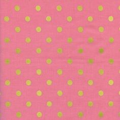 Pre-Sale- Caterpiller Dot in Pink (metallic)- Wonderland by Rifle Paper Co for Cotton and Steel