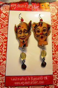 Creepy Clown Earrings