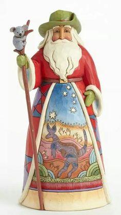 Jim Shore's Australian Santa from his Santa's around the world.