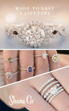 Give your engagement ring the custom look you've been dreaming of. Start with over 1,000 unique rings, including hundreds of exclusive vintage, halo and rose gold styles. Select a diamond, ruby or sapphire in your favorite shape. Add one, two, three or even four wedding rings. Our superior quality standards ensure your center stone is always secure and your ring withstands your active lifestyle.