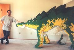 From a stegosaurus to an Olympic stadium to Star Wars characters, we think you'll be impressed with the skill and creativity in these LEGO creations. Lego Dinosaur, Big Lego, Lego Sculptures, Lego Animals, Amazing Lego Creations, Lego Boards, Lego Design, Lego Projects, Star Wars Characters