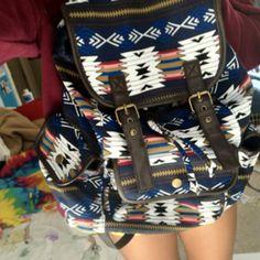 bag tribal tumblr pretty pattern cute school bag backpack aztec