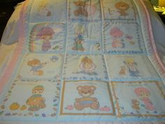 Handmade Baby Precious Moments Calender With 12 Months Baby/Toddler Quilt-Newly Made - 2017 by quilty61 on Etsy