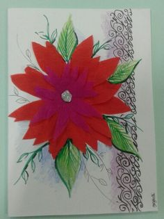 Handcrafted greeting card. November 2015. gwyneth
