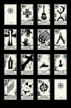 Isobel's black and white tarot cards #nightcircus