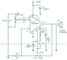 subwoofer amplifier using tda2030   tip3055 tip2955