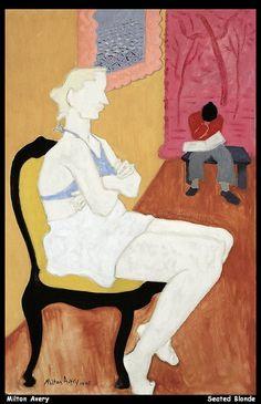 Milton Avery Seated Blonde