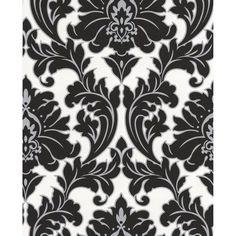 Papier Peint Design Majestic ATYLIA : prix, avis & notation, livraison.  Ce papier peint à l'incroyable motif damassé apportera du contraste à votre déco avec un relief noir et une subtile ligne argentée venant souligner ce motif royal. Largeur : 53cm Poids : 1.01kg- Qualité : Papier vinyle expansé - Longueur : 10 m - Largeur : 52 cm - Raccord : 64 cm - Lavable : Oui - Marque :...