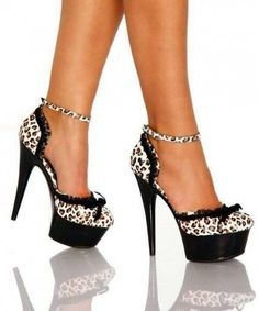 Leopard high heels - Shoes and beauty