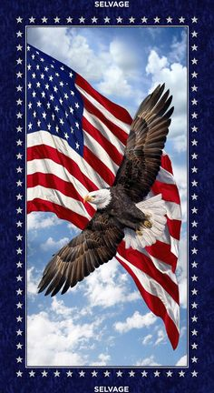 Description: Bald Eagle Land Of the Free Patriotic Panel by Timeless Treasures - 24 x LOF cotton fabric. Machine wash in cold water with like colors and use low heat to dry. Fabric is stored in a smoke-free, dog friendly home. American Flag Wallpaper, Eagle Wallpaper, Patriotic Wallpaper, Hunting Wallpaper, Patriotic Background, Usa Wallpaper, American Flag Background, Holiday Wallpaper, Blue Sky Background