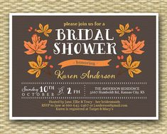 Rustic Autumn/Fall Wreath2 Bridal/Wedding or Baby Shower Invitation - Country