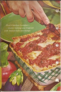 The best church-basement lasagna EVER. I swear. From the 1953 Better Homes And Gardens red-checked cookbook.