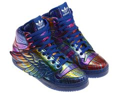 Psychedelic Adidas with wings.